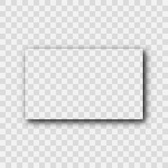 Donkere transparante realistische schaduw. rechthoek schaduw geïsoleerd op transparante achtergrond. vector illustratie.