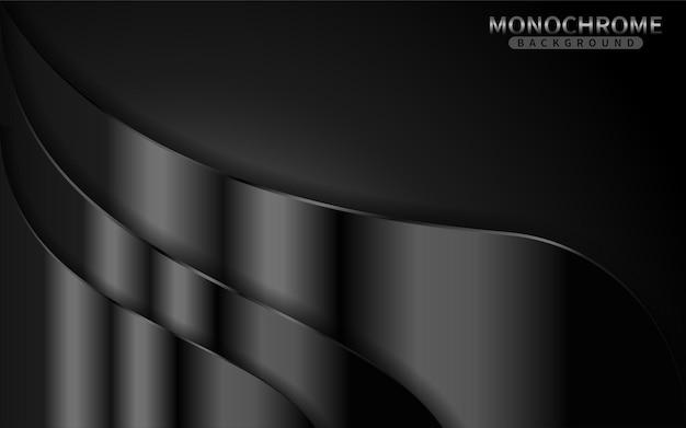 Donkere zwart-wit achtergrond met glanzende lijnen combinatie. grafisch ontwerpelement.