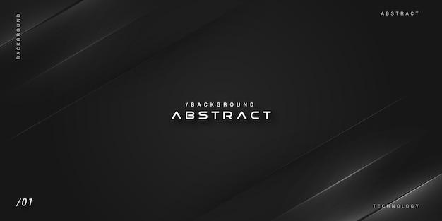 Donkere zwart-wit moderne elegante dekking achtergrond