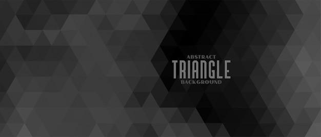 Donkere zwarte achtergrond met driehoeksvormen