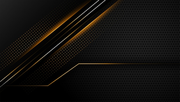 Donkere zwarte achtergrond met gloeiende lijnen ontwerp