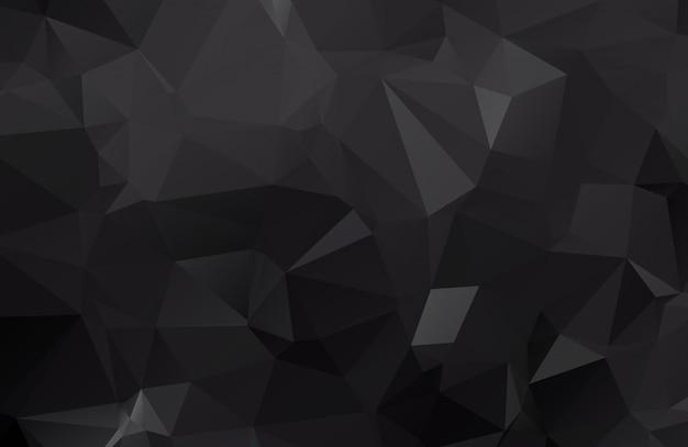 Donkere zwarte veelhoekige illustratie, die uit driehoeken bestaat. geometrische achtergrond in origamistijl met gradiënt. driehoekig ontwerp voor uw bedrijf.