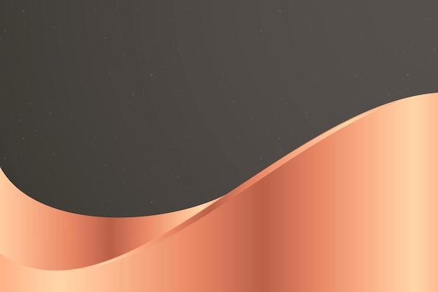 Donkergrijze achtergrondvector met kopergolf