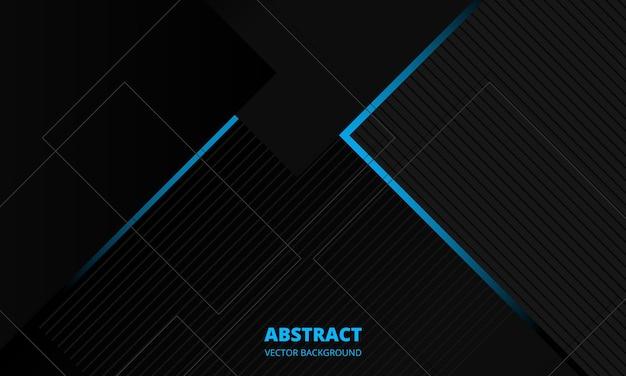 Donkergrijze elegantie zakelijke zakelijke abstracte vector achtergrond met blauwe en grijze lijnen