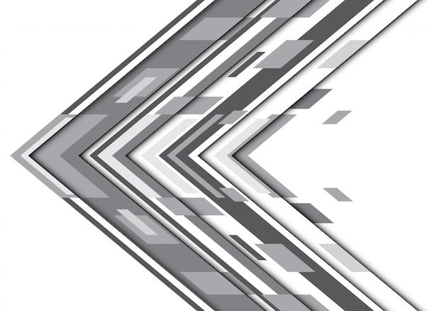 Donkergrijze geometrische de technologieachtergrond van de toonpijl.