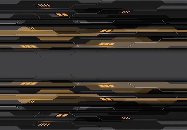 Donkergrijze metaalcyberkring met de achtergrond van de rood lichtmachtstechnologie