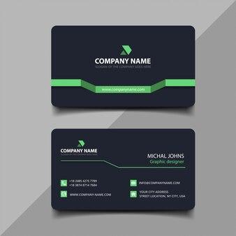 Donkergroen visitekaartje