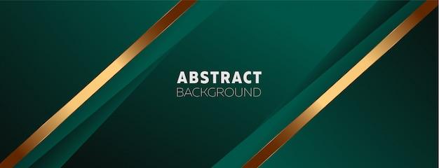 Donkergroene achtergrond met abstracte elementen