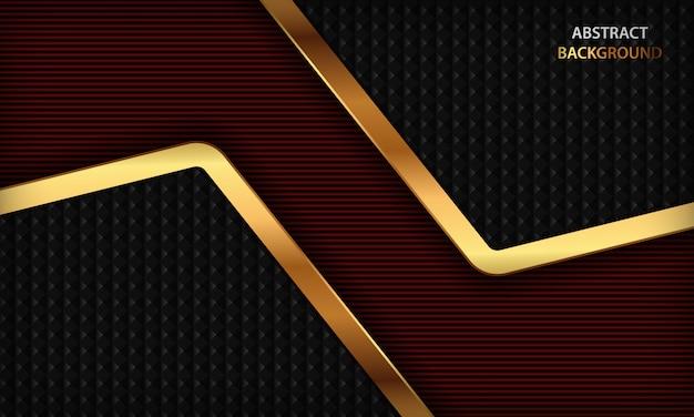 Donkerrode luxeachtergrond met realistisch gouden ontwerp.