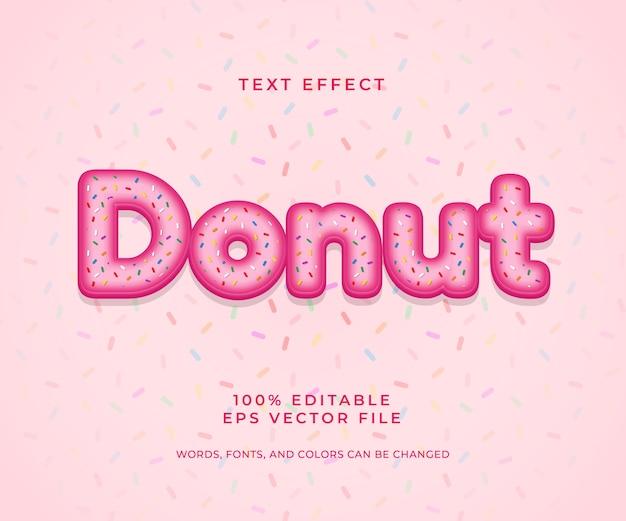 Donut bewerkbaar teksteffect