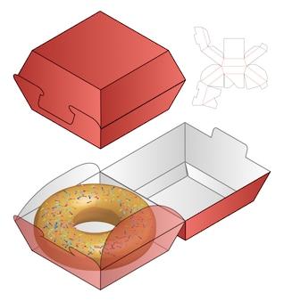 Donut box verpakking gestanst sjabloonontwerp