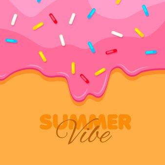 Donut close up zoete roze donut zomerse sfeer