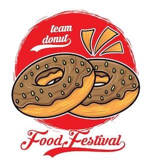 Donut eten festival