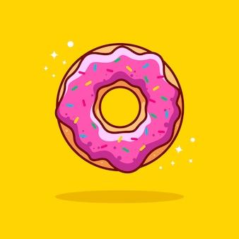 Donut illustratie met omtrek