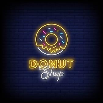 Donut shop neonreclame stijl tekst