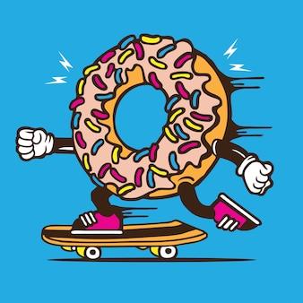 Donut skater skateboard karakter