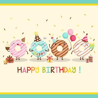 Donut verjaardagskaart