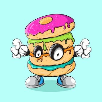 Donut zombie-illustratie