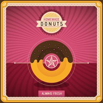 Donuts achtergrondontwerp