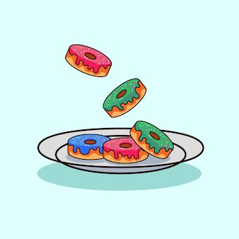 Donuts illustratie moderne stijl