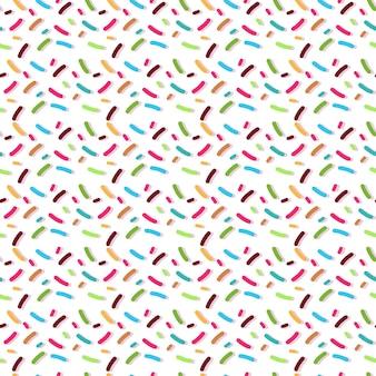 Donuts strooi naadloos patroon geïsoleerd op wit