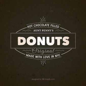 Donuts vintage badge