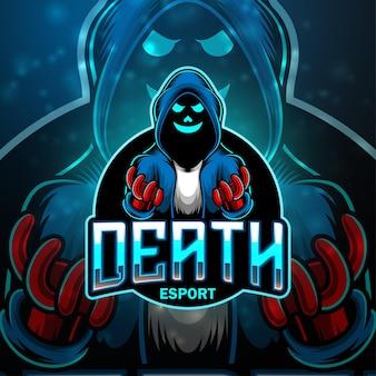 Dood esport mascotte logo ontwerp