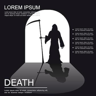 Dood griezelige zwart-wit poster