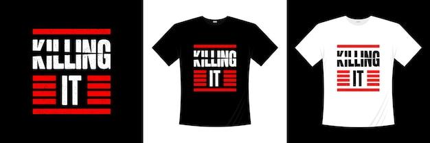 Dood het typografie t-shirt ontwerp