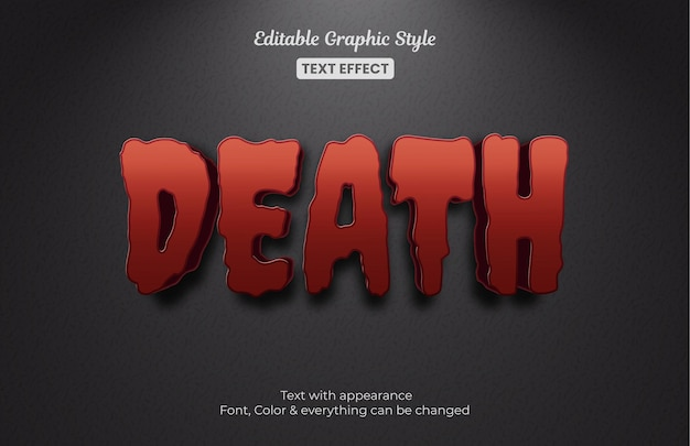 Dood mysterie bewerkbaar teksteffect