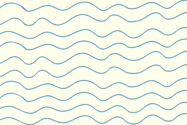 Doodle achtergrond, blauwe golvende patroon ontwerp vector
