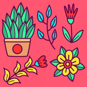 Doodle bloem tempate