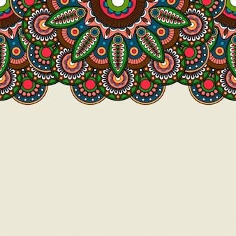 Doodle boho floral rand