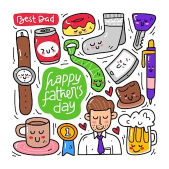 Doodle collectie set vaders dag element
