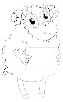 Doodle dier voor lam