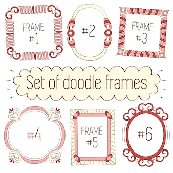 Doodle frames-collectie