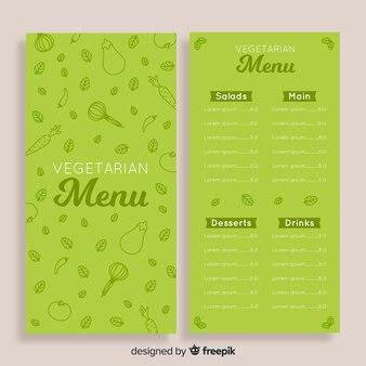 Doodle gezond menusjabloon
