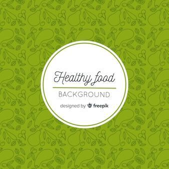 Doodle gezond voedsel achtergrond