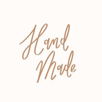 Doodle handgemaakte tekst in bruin lettertype