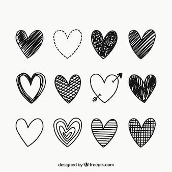 Doodle hart collectie