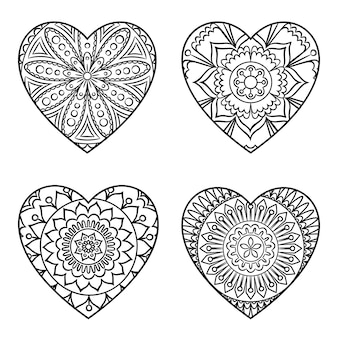 Doodle hart mandala