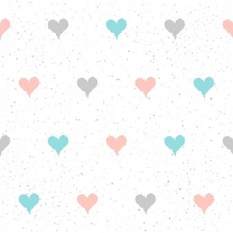 Doodle hart naadloze patroon achtergrond. hand getekende hart geïsoleerd op wit voor ontwerp kaart, textiel, vakantie inpakpapier, kledingstuk, t-shirt, banner, bruiloft plakkaat, boek, plakboek.