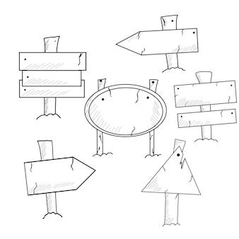 Doodle houten borden