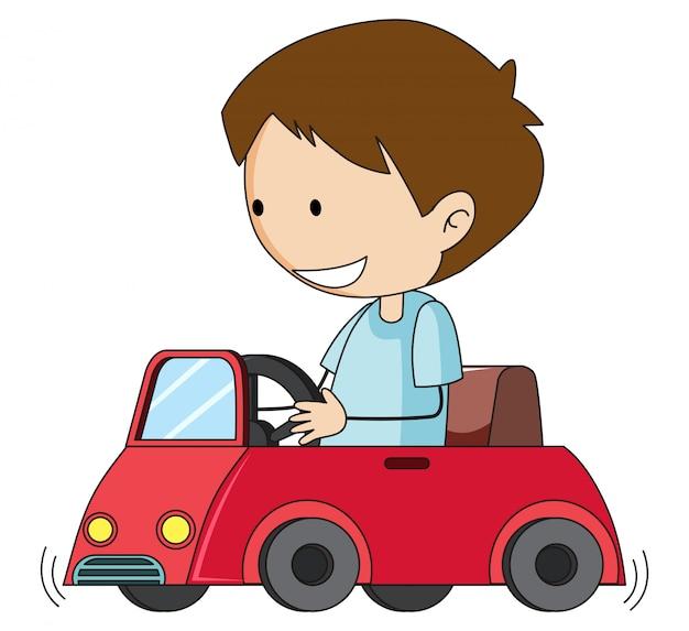 Doodle jongen station speelgoedauto