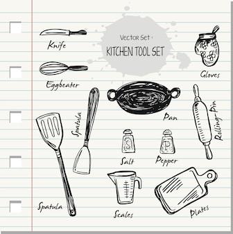Doodle kitchen-gereedschapsset