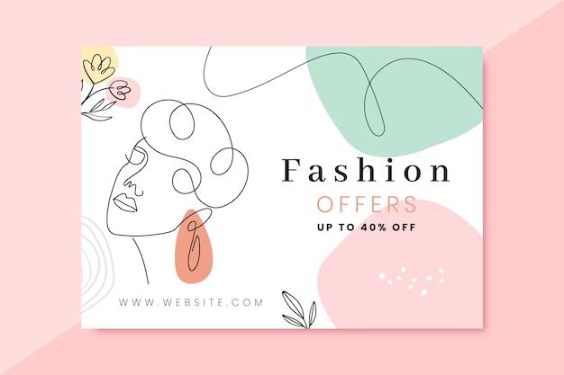 Doodle kleurrijke mode-kaarten