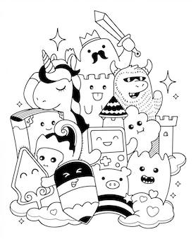 Doodle kunst illustratie