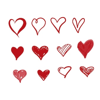 Doodle love icon
