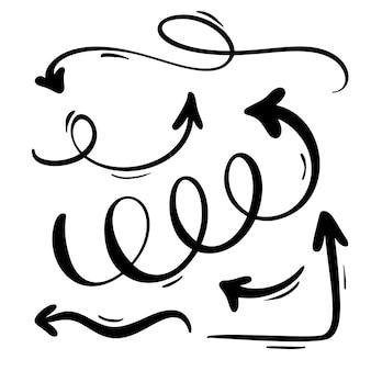 Doodle met de hand gemaakt markeerstift