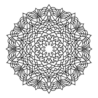 Doodle monochroom mandala kantpatroon